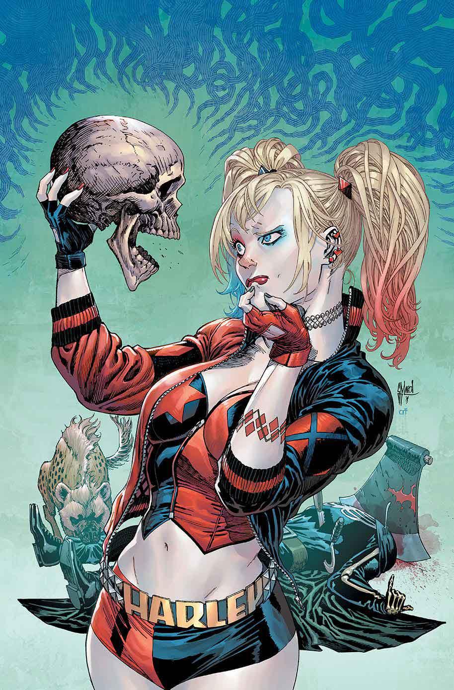 NUOVO Donne Ragazze Rosso /& Blu Harley Quinn Skater Gonna super-cattivo Halloween